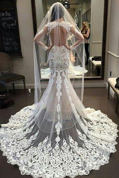 Vestido De Noiva Lace Mermaid Wedding Dresses 2017 Bride Gowns Vintage Robe De Mariage Wedding Dress