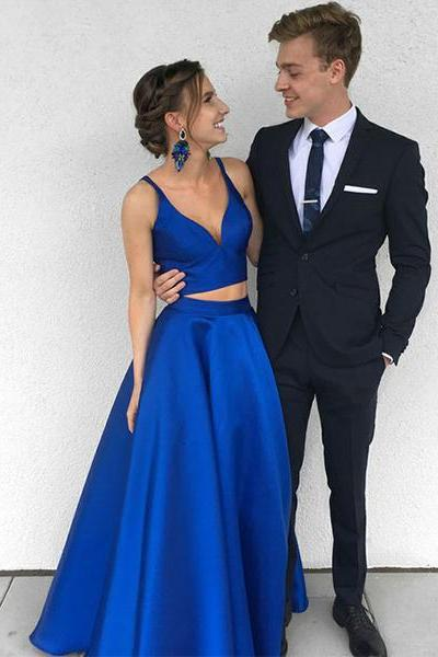 Royal Blue Two Piece Prom Dress,Long Prom Dress,Evening Dress On Sale,Formal Dress,Two Piece Party Dress,Prom Dress For Teens,Garduation Dress,Burgundy Prom Dresses,Charming Prom Gowns